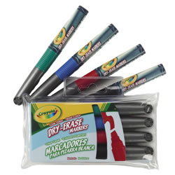 Crayola® Dry Erase Markers - 4 colors (4 markers)