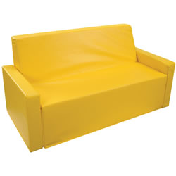 "Yellow 40"" Wide Sofa"