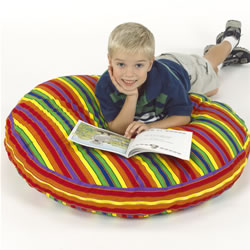 "Cozy Lounger 38"" Rainbow Print"