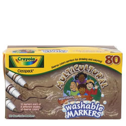 Crayola® Multicultural Markers Classpack (80 count, 8 colors)