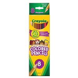 Crayola® 8-Pack Multicultural Pencils (Single Box)