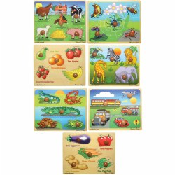 Kaplan Large Knob Puzzles (Set of 7)