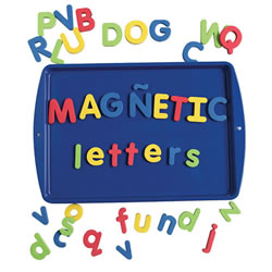Bilingual Magnetic Foam Alphabet - Uppercase
