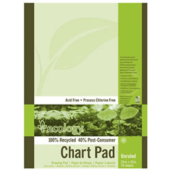 Eco-Friendly Recycled Chart Pad - Unruled