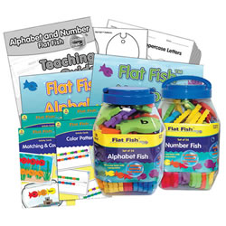 Alphabet and Numbers Flat Fish Kit