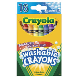 Crayola® Standard 16 Count Washable Crayons