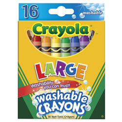 Crayola® Large 16 Count Washable Crayons (12 Boxes)