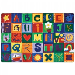 Toddler Alphabet Blocks Carpet