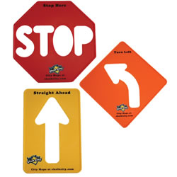 Road Sign Stencils (Set of 3)