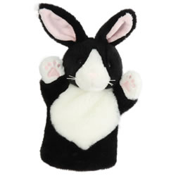 Black and White Rabbit Hand Puppet