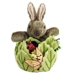 Rabbit in Lettuce Hide-Away Puppets