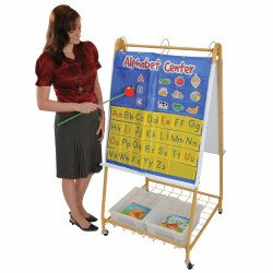 Mobile Teaching Flip Chart Writing Easel