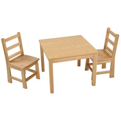 Ash Table & Chair Set