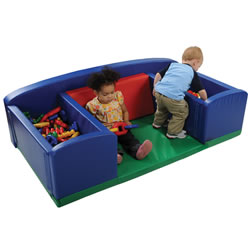 Play Mat with Dual Soft Storage Bins