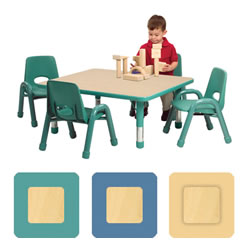 "K System® Adjustable Rectangle 24"" x 36"" Table"