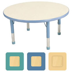 "K System® Adjustable 30"" Round Table"