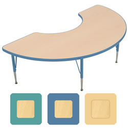 "K System® Adjustable Half Moon 30"" x 60"" Table"