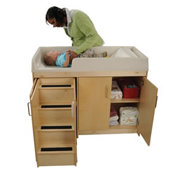 Wooden Step Up Changing Table
