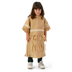 Multi-Ethnic Ceremonial Costume - Native American Girl