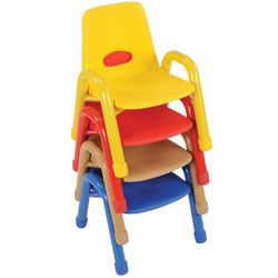 Nature Color Husky Stackable Chair 9 1/2""
