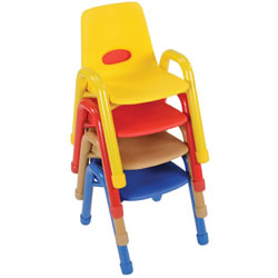Nature Color Husky Stackable Chair 13 1/2""