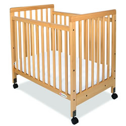 SafetyCraft® Compact Fixed-Side Slatted Crib
