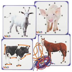 Farm Animal Lacing Boards