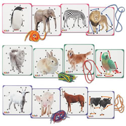 Animal Lacing Boards (Set of 12)