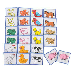 Matching Fabric Animal Squares