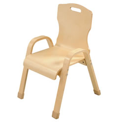 "12"" Bentwood Stackable Chair"