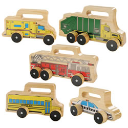 Easy Grip Wooden Vehicles