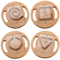 Wooden Shapes Ball Mazes