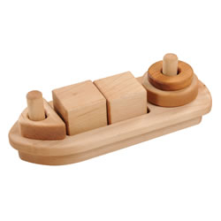 Wooden Stacking Boat