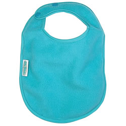 Fleece Bib Snap Closure - Aqua