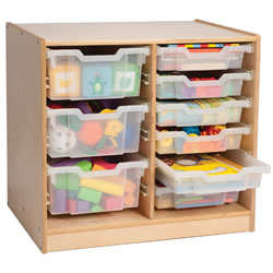 Easy View Compact Storage with Trays