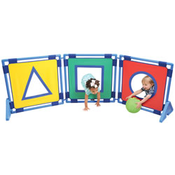 Shape Ball Toss Panel Set with 6 Balls