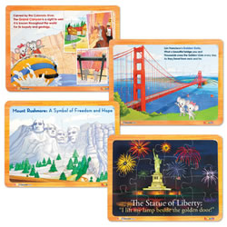 ABCmouse.com Puzzle Set: America the Beautiful (Set of 4)