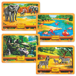 ABCmouse.com Puzzle Set: African Animals (Set of 4)