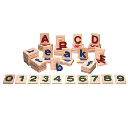 Tactile Letter  Blocks - Lowercase