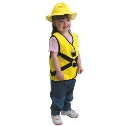 Construction Worker Vest & Hat