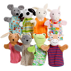 Animal Friends Puppet Set of 8
