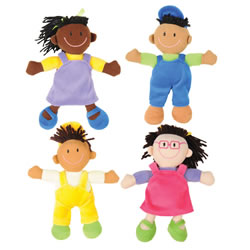 Ethnic Soft Dolls (Set of 4)