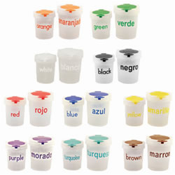 Bilingual Mini No Spill Paintcups (Set of 10)
