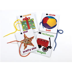Shapes Photo Lacing Cards