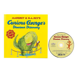 Curious George Dinosaur Discovery Book and CD