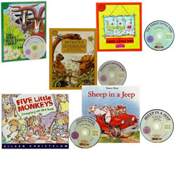 A Read Along Book and CD Set (Set of 5)