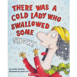 There was a Cold Lady who Swallowed some Snow! Book and CD
