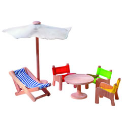 Patio Doll House Furniture Group (6 pieces)