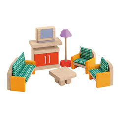 Living Room Doll House Furniture Group (7 pieces)