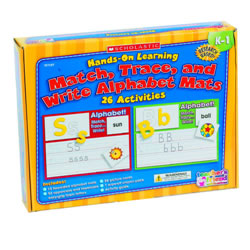 Match, Trace and Write Alphabet Mats